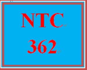 NTC 362 Week 4 Individual INDP Part 3   eBooks   Education