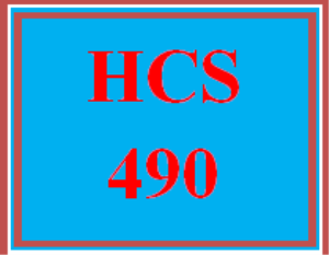 hcs 490 week 3 community program