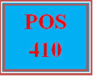 POS 410 Entire Course | eBooks | Education