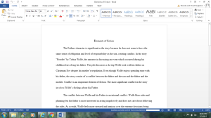 Elements of Fiction | Documents and Forms | Research Papers