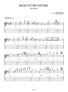 back to the future guitar tab