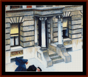 new york pavement - hopper cross stitch pattern by cross stitch collectibles