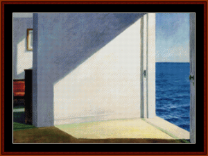 rooms by the sea - hopper cross stitch pattern by cross stitch collectibles