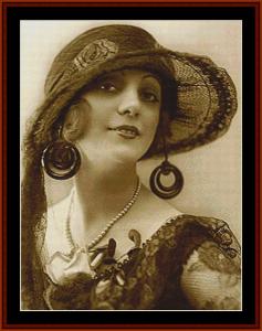 jessica fowler - vintage art cross stitch pattern by cross stitch collectibles