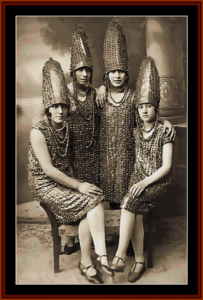 the pickle sisters - vintage art cross stitch pattern by cross stitch collectibles