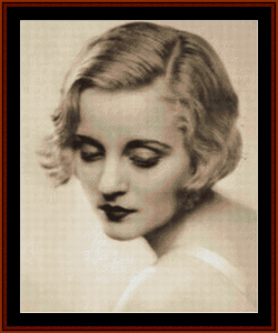 Tallulah Bankhead - Vintage Art cross stitch pattern by Cross Stitch Collectibles | Crafting | Cross-Stitch | Wall Hangings