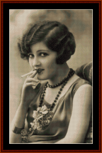 Zelda Fitzgerald - Vintage Art cross stitch pattern by Cross Stitch Collectibles | Crafting | Cross-Stitch | Wall Hangings