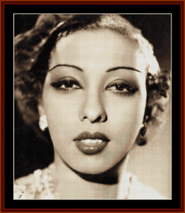 Josephine Baker - Vintage Art cross stitch pattern by Cross Stitch Collectibles | Crafting | Cross-Stitch | Wall Hangings