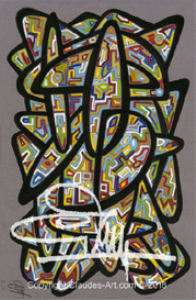 "claude's art:  dessin # 137 ""vitrail"" wallpaper"