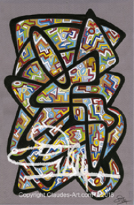 "claude's art:  dessin # 138 ""vitrail"" wallpaper"