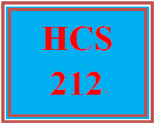 HCS 212 Entire Course | eBooks | Education
