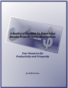 a realtor's checklist to boost sales results from property descriptions