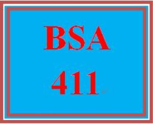 BSA 411 Week 3 Individual: Design Classes | eBooks | Education