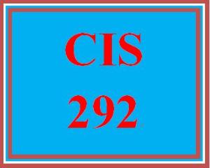 CIS 292 Entire Course | eBooks | Education