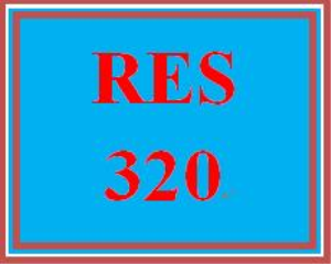RES 320 Entire Course   eBooks   Education