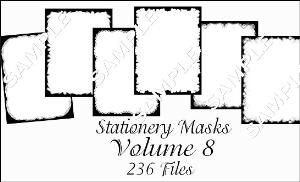 printable stationery designs paint shop pro masks vol 8