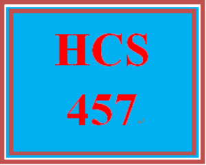 HCS 457 Week 5 Conversation Starter | eBooks | Education