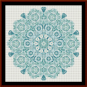 Fractal 574 cross stitch pattern by Cross Stitch Collectibles | Crafting | Cross-Stitch | Wall Hangings
