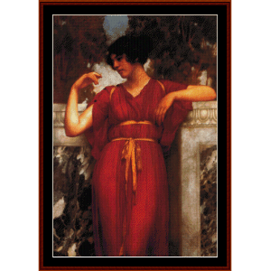 the ring, 1898 - godward cross stitch pattern by cross stitch collectibles