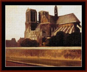 notre dame - hopper cross stitch pattern by cross stitch collectibles