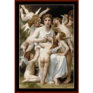 Assault, 1898 - Bouguereau cross stitch pattern by Cross Stitch Collectibles | Crafting | Cross-Stitch | Wall Hangings