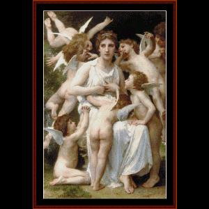 assault, 1898 - bouguereau cross stitch pattern by cross stitch collectibles