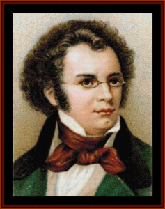 schubert - music composer cross stitch pattern by cross stitch collectibles
