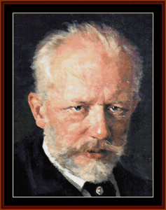 Tchaikovsky - Music Composer cross stitch pattern by Cross Stitch Collectibles | Crafting | Cross-Stitch | Wall Hangings
