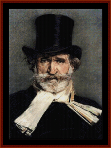 verdi - music composer cross stitch patterm by cross stitch collectibles