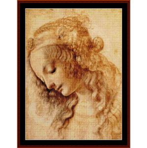 portrait of a woman ii - davinci cross stitch pattern by cross stitch collectibles