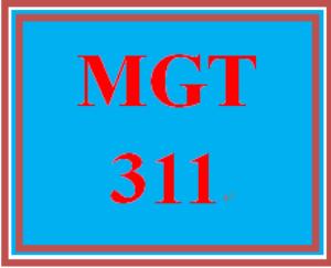 MGT 311 Week 1 Self-Assessments | eBooks | Education