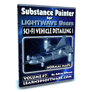 substance painter for lightwave users-volume #7-sci-fi vehicle detailing i- normal maps