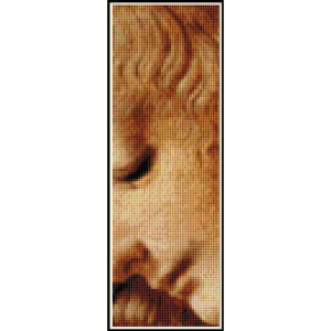 portrait of a woman bookmark - davinci cross stitch pattern by cross stitch collectibles