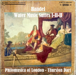 handel: the water music suite i-ii-iii - philomusica of london/thurston dart