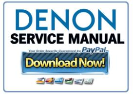 Denon AVR-X3200W AV Receiver Service Manual | eBooks | Technical
