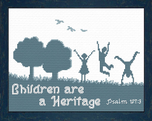 Children are a Heritage | Crafting | Cross-Stitch | Religious