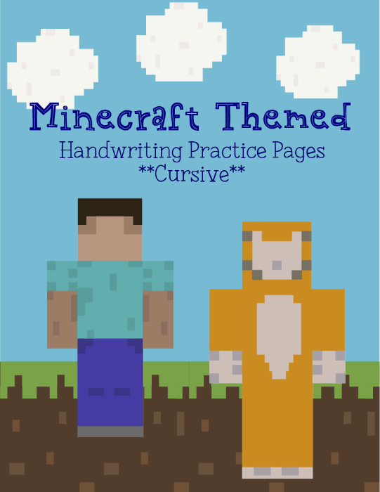 First Additional product image for - MinecraftCURSIVEHandwritingPack