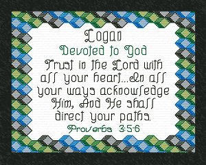 Name Blessings - Logan 2 | Crafting | Cross-Stitch | Other