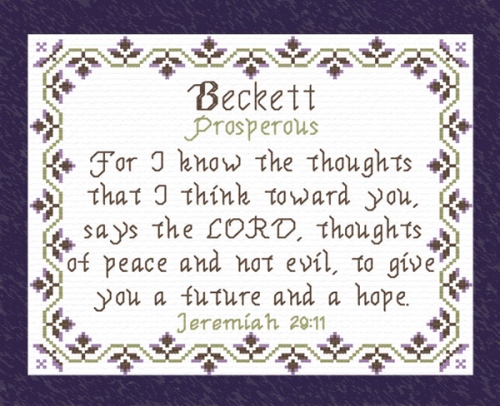 First Additional product image for - Name Blessings - Beckett