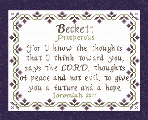 Name Blessings - Beckett | Crafting | Cross-Stitch | Other