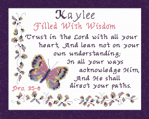 Name Blessings - Kaylee | Crafting | Cross-Stitch | Religious