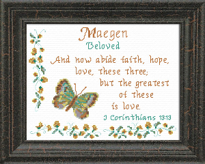 Name Blessings - Maegen | Crafting | Cross-Stitch | Religious