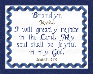 Name Blessings - Brandyn | Crafting | Cross-Stitch | Religious