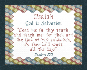 Name Blessings - Isaiah 2 | Crafting | Cross-Stitch | Religious