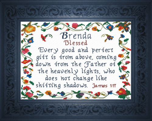 First Additional product image for - Name Blessings - Brenda