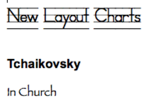 tchaikovsky: in church