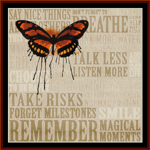 Advice - Word Art cross stitch pattern by Cross Stitch Collectibles | Crafting | Cross-Stitch | Wall Hangings