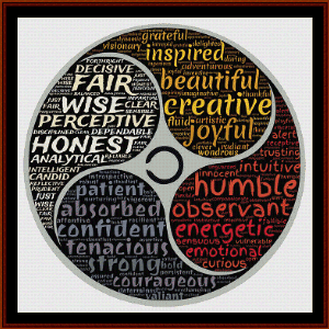 Person - Word Art cross stitch pattern by Cross Stitch Collectibles | Crafting | Cross-Stitch | Wall Hangings