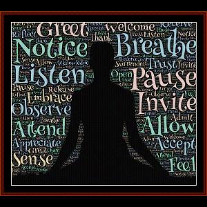 Meditation - Word Art cross stitch pattern by Cross Stitch Collectibles | Crafting | Cross-Stitch | Wall Hangings