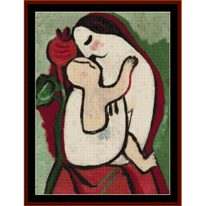 mother and child ii - galand cross stitch pattern by cross stitch collectibles